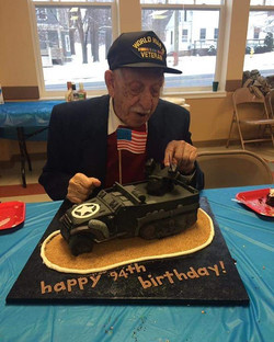 A special 94th birthday cake! #edibleart #thankavet #thecakeplace