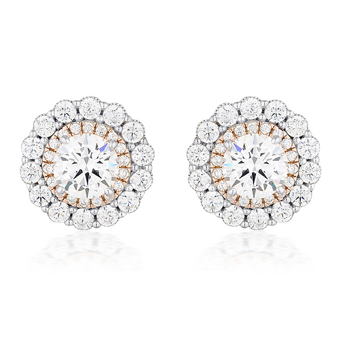 Miranna Double Halo Stud Earring