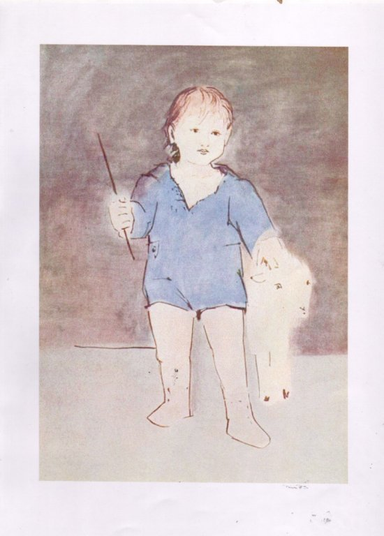 Picasso.A Child with A Lame..jpg