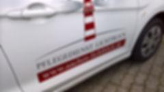 Pflegedienst-Auto-Beschriftung