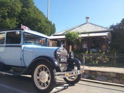 Vising vintage car rally