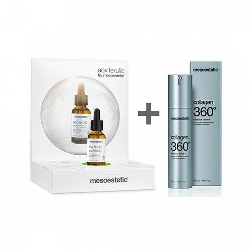 Pack Aox Ferulic 30ml + Collagen 360 Intensive Cream 50ml Mesoestetic