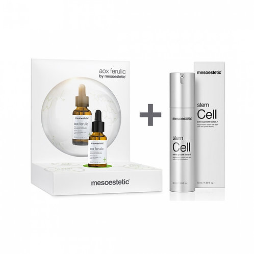 Pack Aox Ferulic 30ml + Stem Cell Active Growth Factor 50ml Mesoestetic