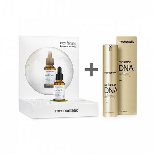 Pack Aox Ferulic 30ml + Radiance DNA Intensive Cream 50ml Mesoestetic