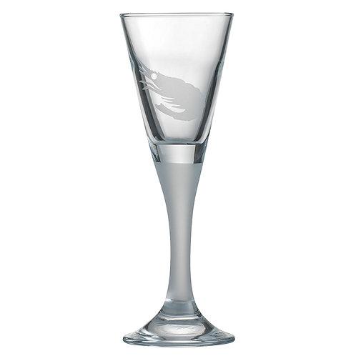 Snapseglas, reje sandblæst