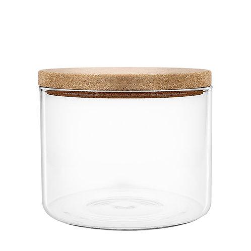 Glascontainer med korklåg, lille