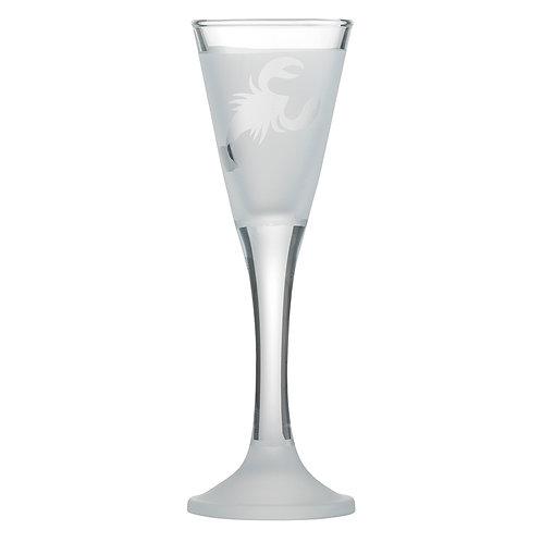 Snapseglas, krebs klar