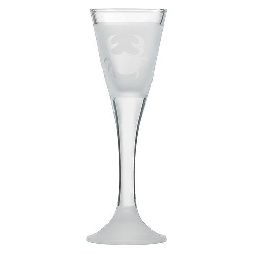 Snapseglas, krabbe klar