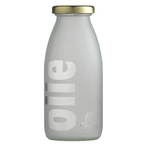 Lågflaske sandblæst, olie