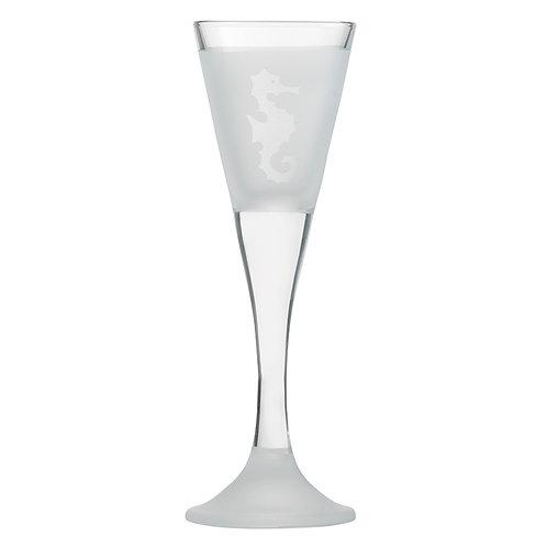 Snapseglas, søhest klar