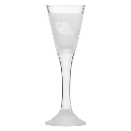 Snapseglas, fisk klar