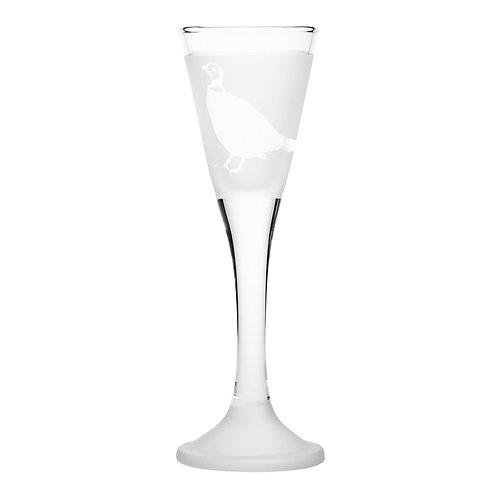Snapseglas, fasan klar
