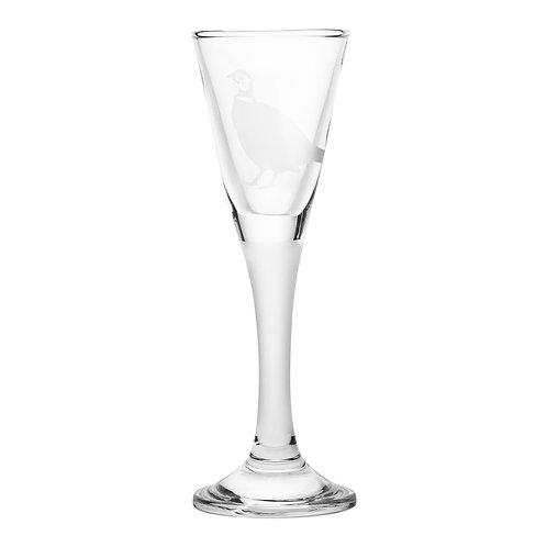 Snapseglas, fasan sandblæst