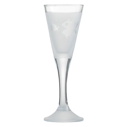 Snapseglas, piratfisk klar