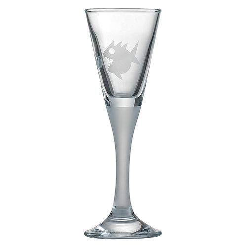 Snapseglas, piratfisk sandblæst