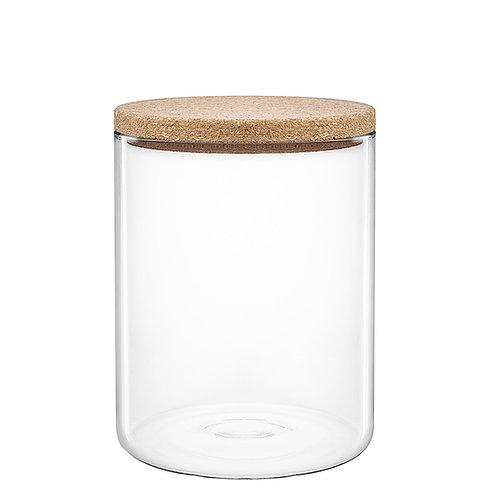 Glascontainer med korklåg, medium