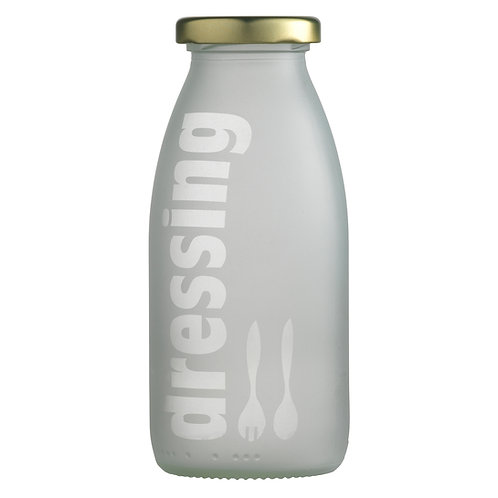 Lågflaske sandblæst, dressing