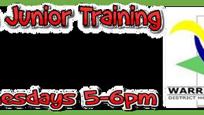 Open Junior Training Sessions