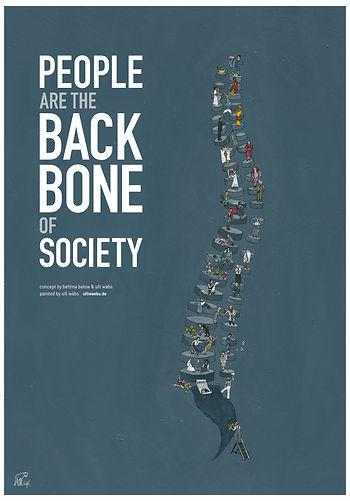 UlrikeWaebs poster A1 Backbone, Die offene Gesellschaft