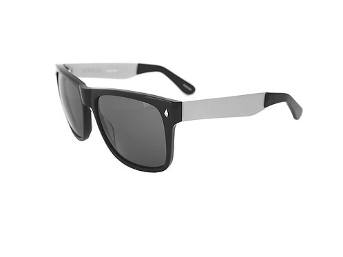 Gunclub - Black Matt Silver, Grey Lens