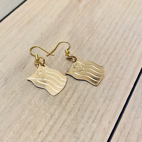Gold Flag - Earrings