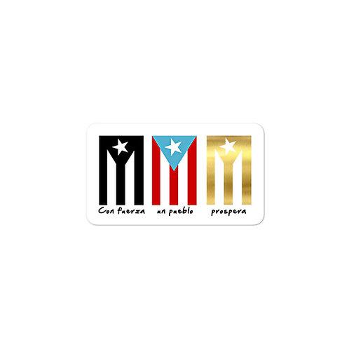 Con fuerza un pueblo prospera - Sticker