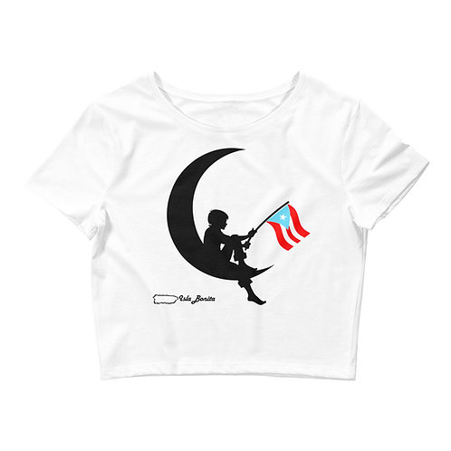 Aunque naciera en la luna - White Cropped Top