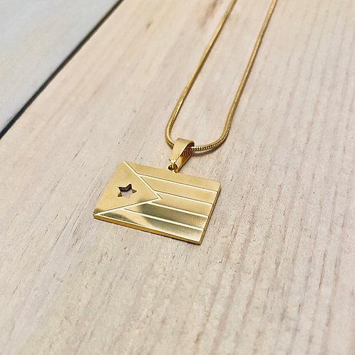 Gold Flag - Necklace