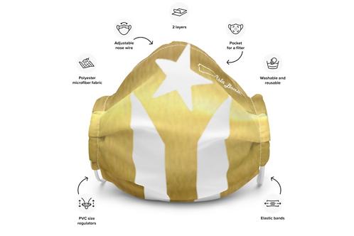 Mascarilla Reusable - Gold Flag