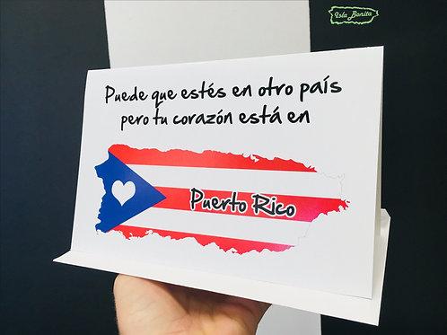 En otro país - Postal