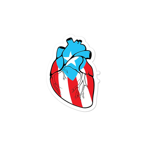 Corazón Boricua - Sticker