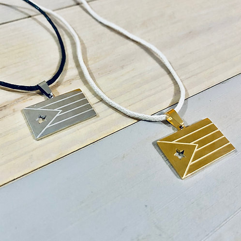 Silver & Gold Flag - Necklace
