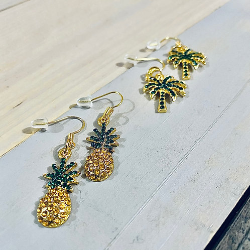 Tropical Gold Plated Earrings