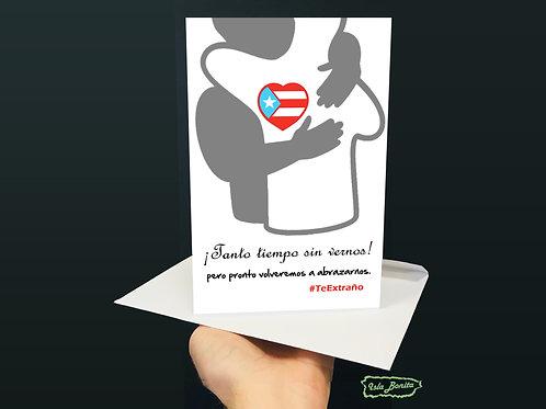 #TeExtraño - Postal