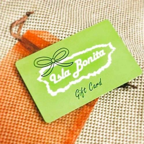 Isla Bonita Gift Card