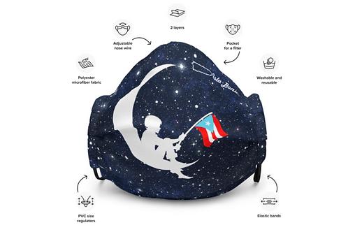 Mascarilla Reusable - Aunque naciera en la luna
