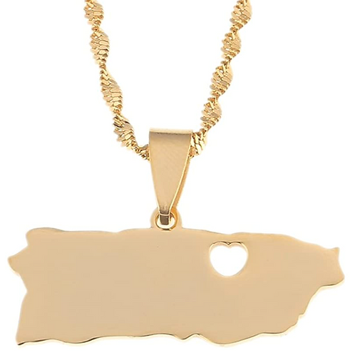 PR Heart - Gold Necklace