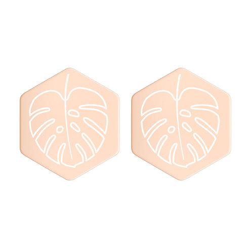 El Yunque Leaves - Hexagon Earrings