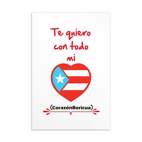 #CorazónBoricua - Postal