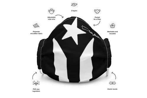Mascarilla Reusable - Black Flag