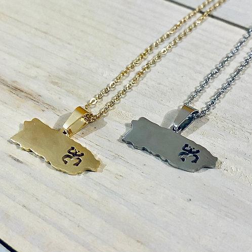 Gold & Silver Taíno Island - Necklace