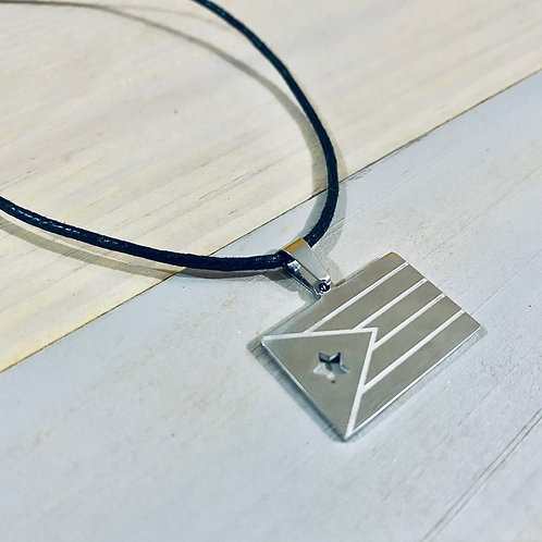 Silver Flag - Necklace
