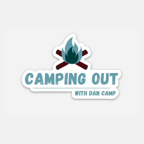 Camping Out Die Cut Sticker