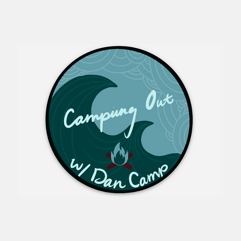 Camping Out Waves Sticker