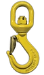 Swivel Hook with Safety Catch. Chain Sli