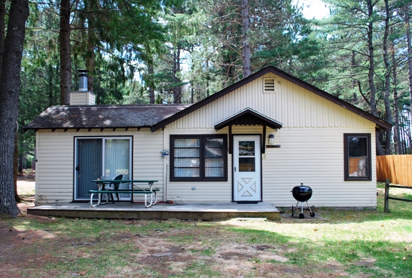 Cabin 3 is a 2 bedroom 1 bath