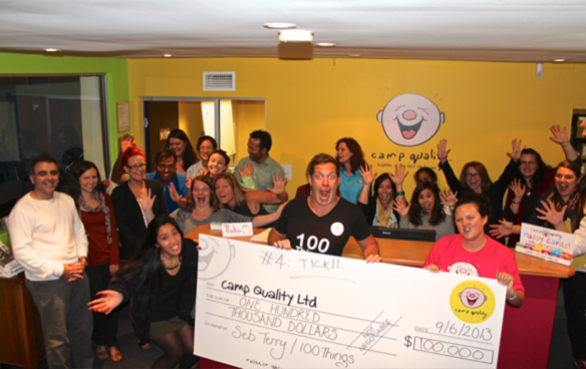 #4 - Raise $100,000 for Camp Quality