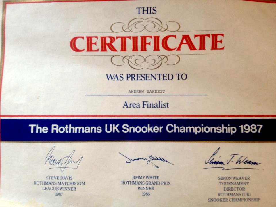 ROTHMANS CERTIFICATE