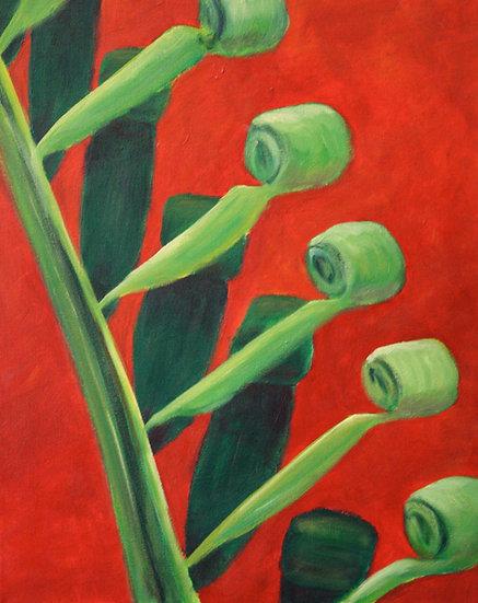 Frond - Acrylic on canvas 40cm x 50cm