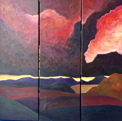 Triptych Scottish Sky 1